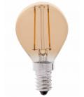 Ledlife 2W LED krone pære - Karbon filamenter, røkt glass, dimbar, Ekstra varm, E14