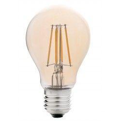 E27 LED LEDlife 4W LED pære - Dimbar, Karbon filamenter, røkt glass, ekstra varm hvit, 2200K, A60, E27