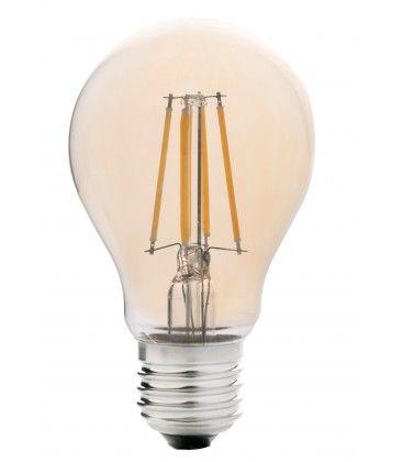 LEDlife 4W LED pære - Dimbar, Karbon filamenter, røkt glass, ekstra varm hvit, 2200K, A60, E27