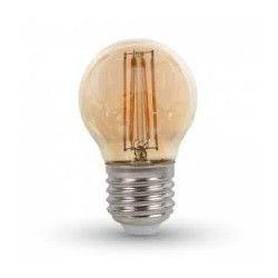 E27 LED LEDlife 4W LED krone pære - Karbon filamenter, Røkt glass, dimbar, Ekstra varm, E27