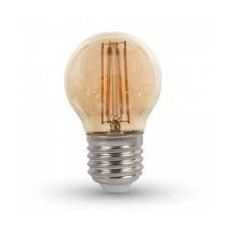 LEDlife 4W LED krone pære - Karbon filamenter, Røkt glass, dimbar, Ekstra varm, E27