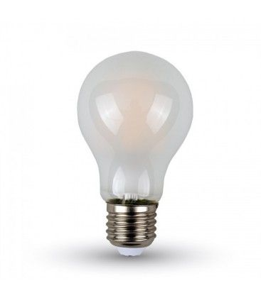 V-Tac 4W LED Pære - karbon filamenter, mattert, A60, E27