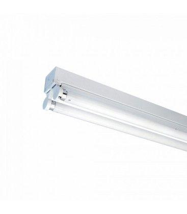 V-Tac åpen T8 LED armatur - Til 2x 60 cm LED rør, IP20 innendørs