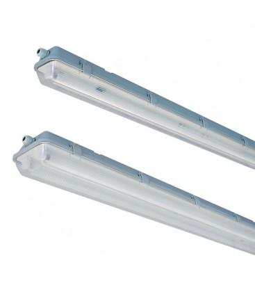 Vento LED T8 armatur gjennomgangskobling - 2x 150 cm rør, IP65 armatur