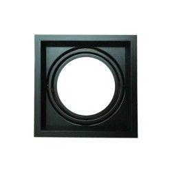 V-Tac downlight - Svart, 17,5 x 17,5 cm, G53 AR111