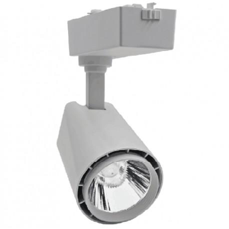 LEDlife Skinnespot 30W - 3000lm, flott design, 3000k, farge: hvit/ sølv/ svart
