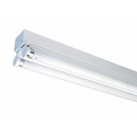 V-Tac åpen T8 LED armatur - Til 2x 120 cm LED rør, IP20 innendørs