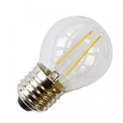 E27 vanlig LED LEDlife 2W LED krone pære - Karbon filamenter, varm hvit, E27