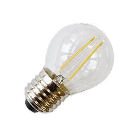 LEDlife 2W LED krone pære - Karbon filamenter, varm hvit, E27