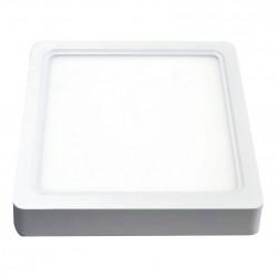 V-Tac 22W LED taklampe - 20,5 x 20,5cm, høyde: 3,5cm, hvit kant, inkl. lyskilde