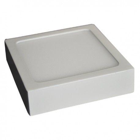 V-Tac taklys / LED panel 6W - ekstra tynn, 9 x 9 cm, Høyde: 2,4 cm, hvit kant