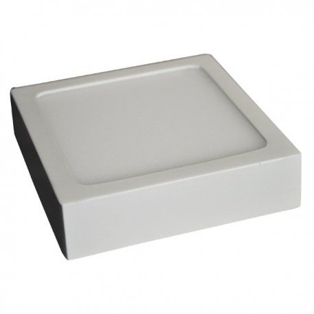 V-Tac taklys / LED panel 18W - ekstra tynn, 19 x 19 cm, Høyde: 2,4 cm, hvit kant