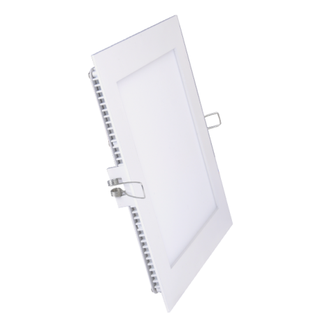 V-Tac 8W LED panel downlight - Hull: 10,5 x 10,5 cm, Mål: 12 x 12 cm, uten driver