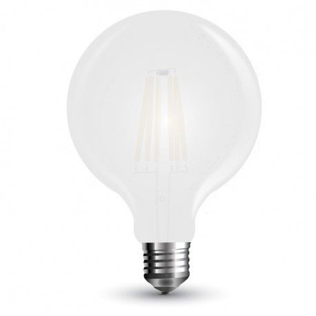 V-Tac 7W LED globepære - Karbon filamenter, Ø12,5 cm, mattert, E27