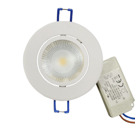 V-Tac 5W LED downlight - Hull: Ø7,2 cm, Mål: Ø8,8 cm, 230V