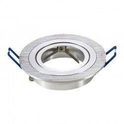 Innendørs downlights Downlight kit uten lyskilde - Hull: Ø7,5 cm, Mål: Ø9,1 cm, børstet aluminium, velg fatning