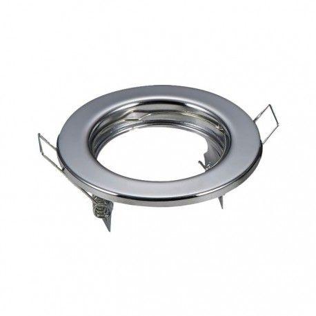 Downlight kit uten lyskilde - Hull: Ø6,5 cm, Mål: Ø8 cm, krom, inkl. fatning til GU10 eller MR16