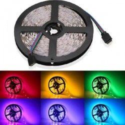 12V RGB V-Tac 10,8W/m RGB sprutsikker LED strip - 5m, 60 LED per meter