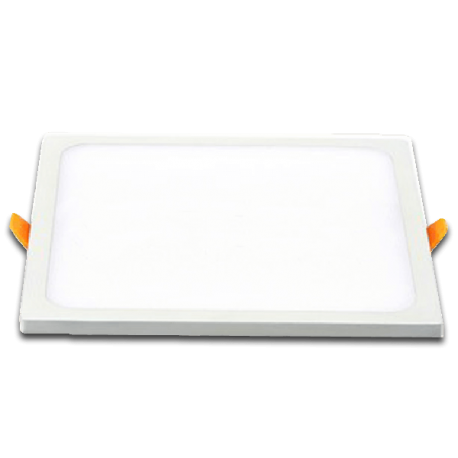 V-Tac 15W LED panel downlight - Hull: 13,5 x 13,5 cm, Mål: 14,5 x 14,5 cm, 230V