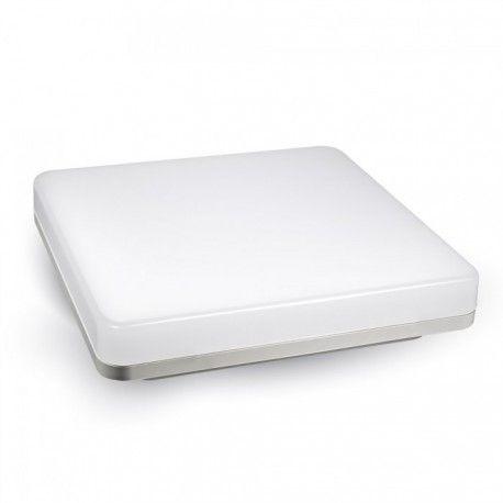 V-Tac firkantet 15W LED taklampe - IP44, 20 x 20cm, 230V, inkl. lyskilde