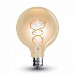 E27 LED V-Tac 5W LED globe pære - Karbon filamenter, Ø9,5 cm, ekstra varm hvit, E27