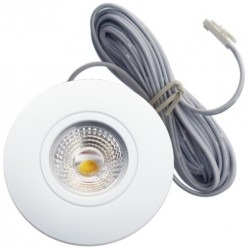 Daxtor Easy 2-place downlight - Matt hvit, 3,5W, 2700K
