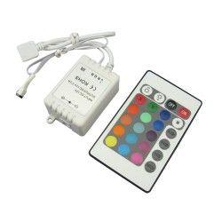 12V IP68 RGB RGB controller med fjernkontroll - 12V (72W), 24V (144W), infrarød