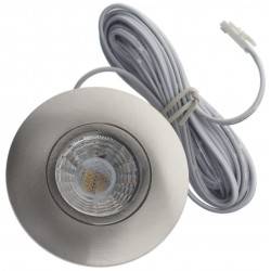 Daxtor Easy 2-place downlight - Børstet stål, 3,5W, 2700K