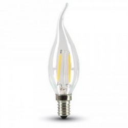 E14 LED 2W LED flamme pære - karbon filamenter, varm hvit, E14