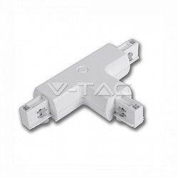 V-tac skjøtestykke til skinner - Hvit, T-stykke