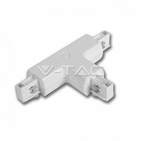 V-Tac T-skjøte for skinner - Hvit
