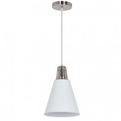 V-Tac moderne pendellampe - krom + hvit sandblåst, Ø22 cm, E27