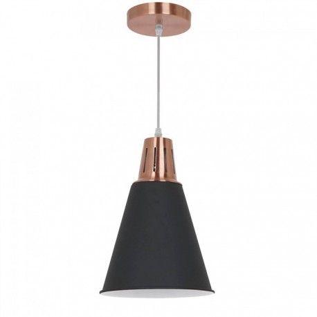 V-Tac Moderne pendellampe - kobber + svart sandblåst, Ø22 cm, E27
