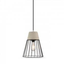 LED pendel V-Tac betong+jern pendellampe - Ø25 cm, E27