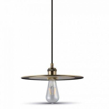 V-Tac metall pendel lampe - matt golden, E27
