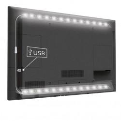 12V USB TV-stemningslys LED - 2 lister, 50 cm per liste
