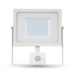 V-Tac 50W Lyskaster med sensor - Ny modell, Tynn, SMD