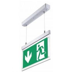 Nødlys LED V-Tac hengende LED Exit skilt,  - 2W, 120 lumens