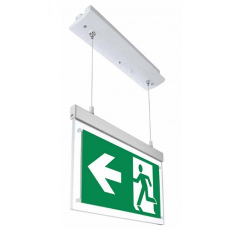 V-Tac hengende LED Exit skilt - 2W, 120 lumens