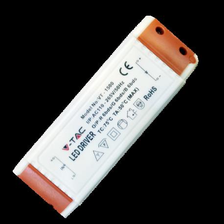 V-Tac 15W driver til 15W panel downlight - Non dimbar, 230V