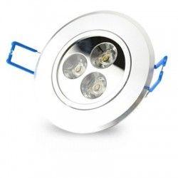 LED downlights 3W downlight - Hull: Ø7-8 cm, Mål: Ø8,4 cm, 4 cm høy, dimbar, 12V/24V