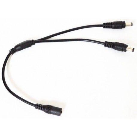 DC kabel splitter - 5V-48V, svart