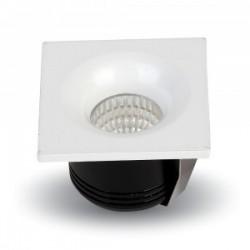 LED downlights V-Tac 3W LED downlight - Hull: Ø3,5 cm, Mål: 4,5x4,5 cm, 230V