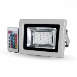 Lyskastere V-Tac 10W LED lyskaster RGB - Med infrarød fjernkontroll, utendørs