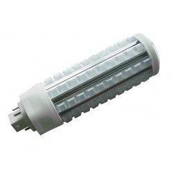 G24Q (4 pinner) GX24Q LED pære - 20W, 360°, klar glass