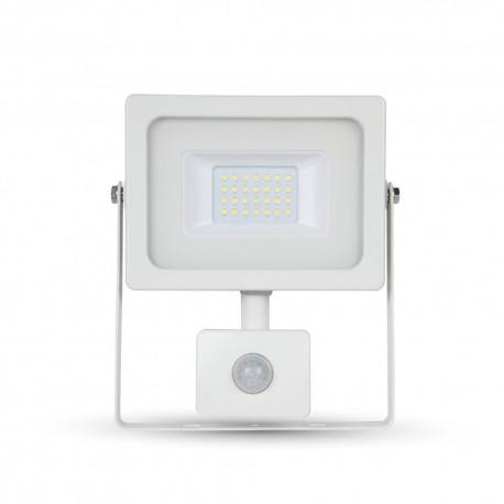 V-Tac 10W flomlys med sensor - Tynn, SMD