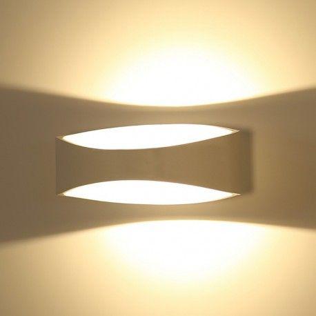 V-Tac 5W LED vegglampe - Indirekte, IP20 innendørs, 230V, inkl. lyskilde