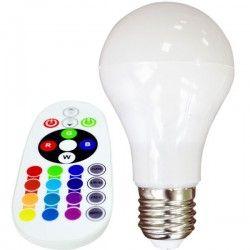 E27 LED V-Tac 6W RGB LED pære - Med RF fjernkontroll, E27