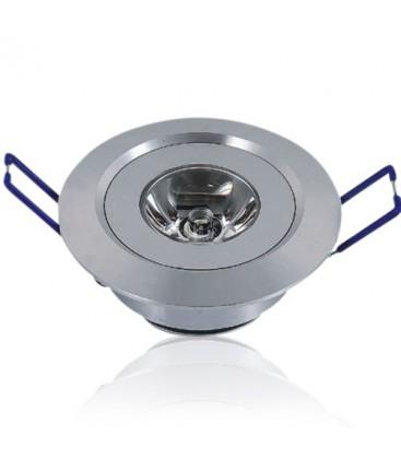 Downlight, 1W, 230V, Ø5,2 cm - 2m ledning, Høyde: 2,2cm, Hull: Ø4,4-4,8cm, varm hvit
