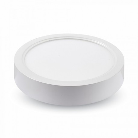 V-Tac 22W LED taklampe - Ø20,5cm, høyde: 3,5cm, hvit kant, inkl. lyskilde